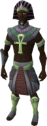 Pharaoh outfit equipped (male)