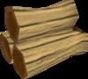 Mahogany logs detail
