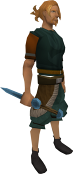 Rune knife equipped