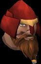 Grimsson helmet chathead