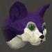 Pet kitten (purple) chathead