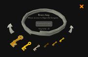Steel key ring check-keys
