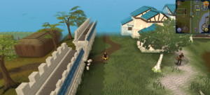 Scan clue Falador south-west of west bank