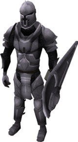 Steel armour set (lg) equipped