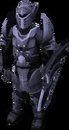 Een speler die het volledige Mithril armour draagt.