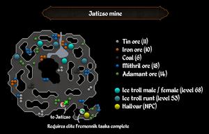 Jatizso mine ore spots map