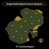 Dragontooth Island resource dungeon map
