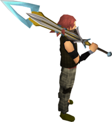 Exquisite 2h sword equipped