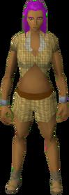 Shirt and shorts (Tan) equipped