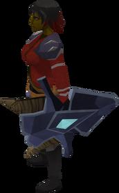Katagon kiteshield equipped
