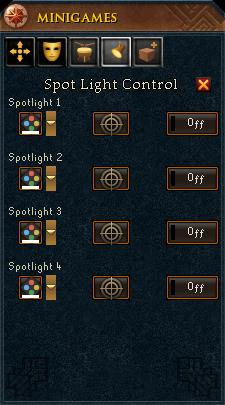 Spot Light Control interface