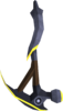 Gilded mithril pickaxe detail