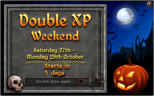 Bonus XP Weekend October 2012 promotion