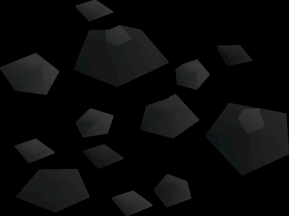 Rock fragments detail