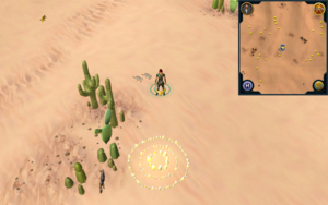 Scan clue Kharidian Desert north of fairy ring
