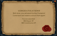 Imp Champion reward