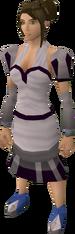 White elegant clothing (female) equipped