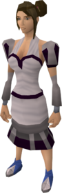 White elegant clothing (female) equipped