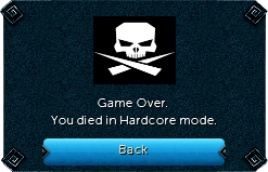 Game over hardcore