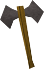 Iron battleaxe old