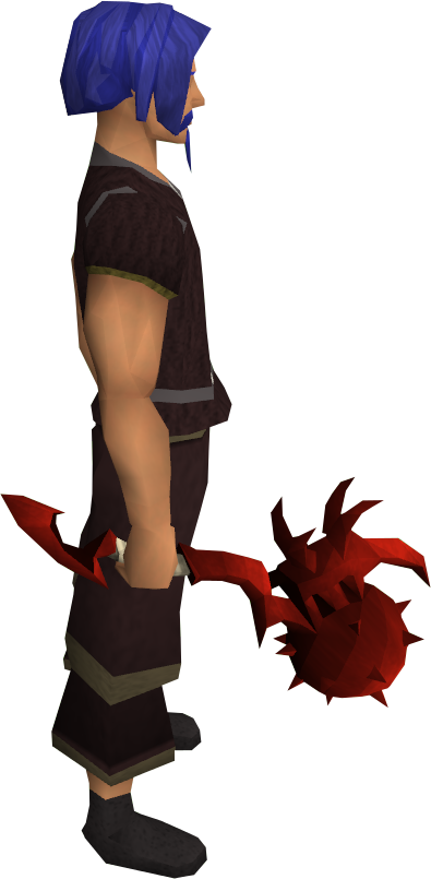 Dragon mace equipped.png