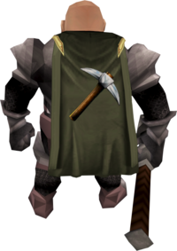 Mining cape equipped (Dwarf)