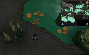 Scan clue Lumbridge Swamp Caves west of area with wall beasts