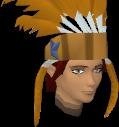 Feather headdress (orange) chathead