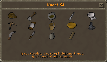 Quest kit (advanced) content