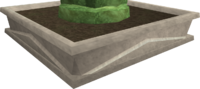 Rough-hewn hedge base