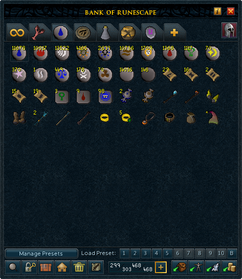 how to open pet interface runescape