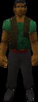 Retro tattered waistcoat (male)