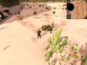 Scan clue Kharidian Desert south of Hunter training icon