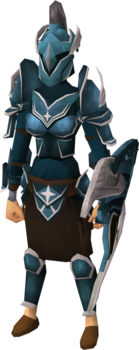 Saradomin armour set (sk) equipped