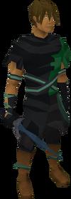 Dark dagger equipped