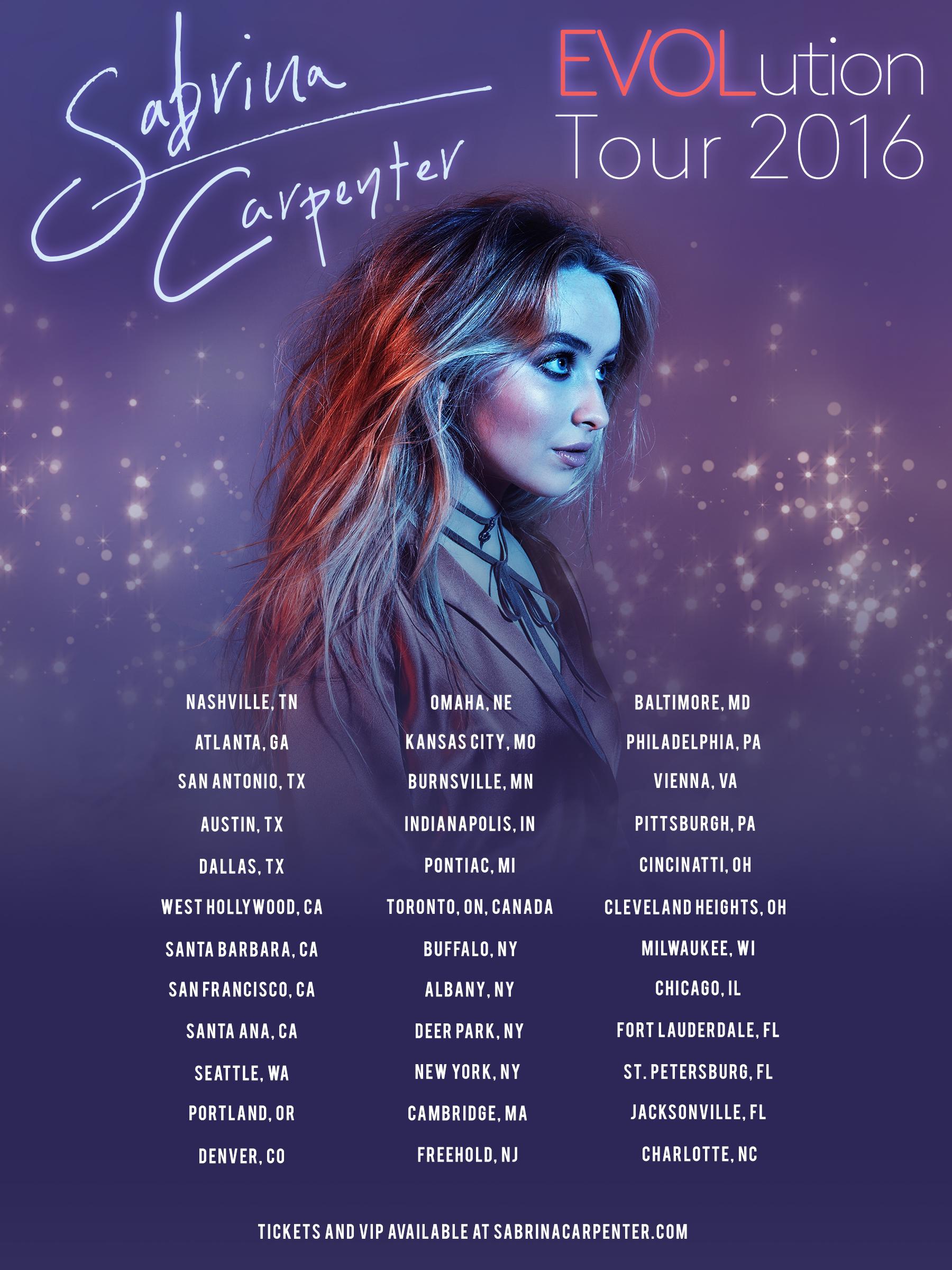 Evolution Tour Sabrina Carpenter Wiki Fandom Powered