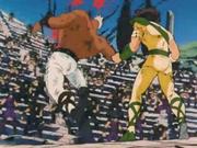 Seiya defeated Cassios
