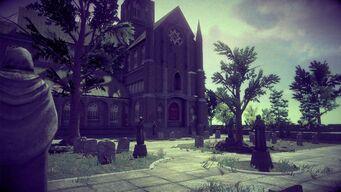 Saints Row Church - graveyard in Saints Row IV