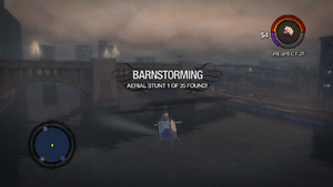 Barnstorming message in Saints Row 2