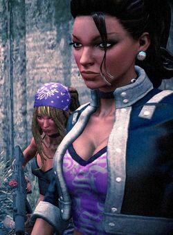 Shaundi in foreground with Fun Shaundi behind