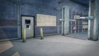 Donnie's - Interior in Saints Row 2 - view of closed office door