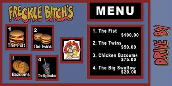 Freckle Bitch's f38 menu pl
