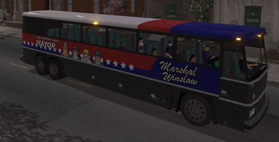 Winslow Bus with 6 passengers