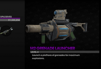 M2 Grenade Launcher in the Weapons Cache