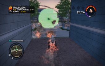 Trail Blazing end checkpoint in Saints Row 2