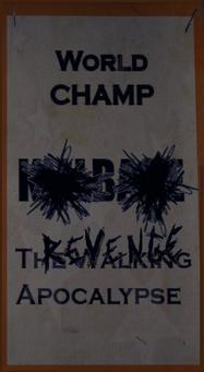 Angel's Gym Revenge Poster of world champ banner