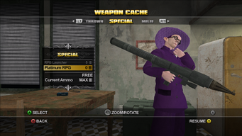 Saints Row Weapon Cache - Special - Platinum RPG