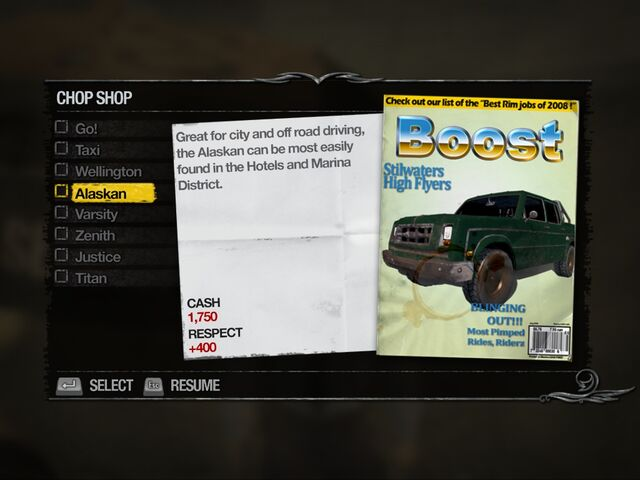 File:Alaskan - Downtown Chop Shop list in Saints Row 2.jpg