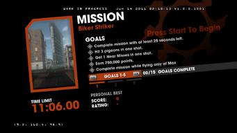 Saints Row Money Shot Mission objectives - Biker Striker - 1 of 3 goals screen