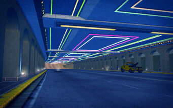 Rebadeaux in Saints Row 2 - underpass